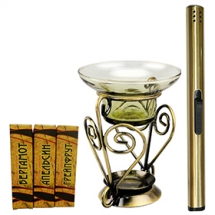 Набор для ароматерапии Aroma Royal Systems AR314L (аромалампа, свечи, аромамасла, поджигатель свеч)